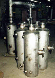 Separate wastewater treatment housings
